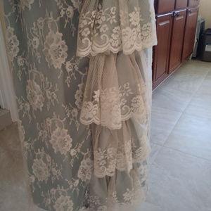 Jessica McClintock Dresses - Vintage Jessica McClintock 80s Lace Dress - Formal